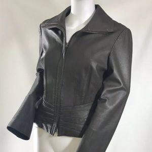 Bebe Gorgeous Brownish Grey  Leather Jacket Size M